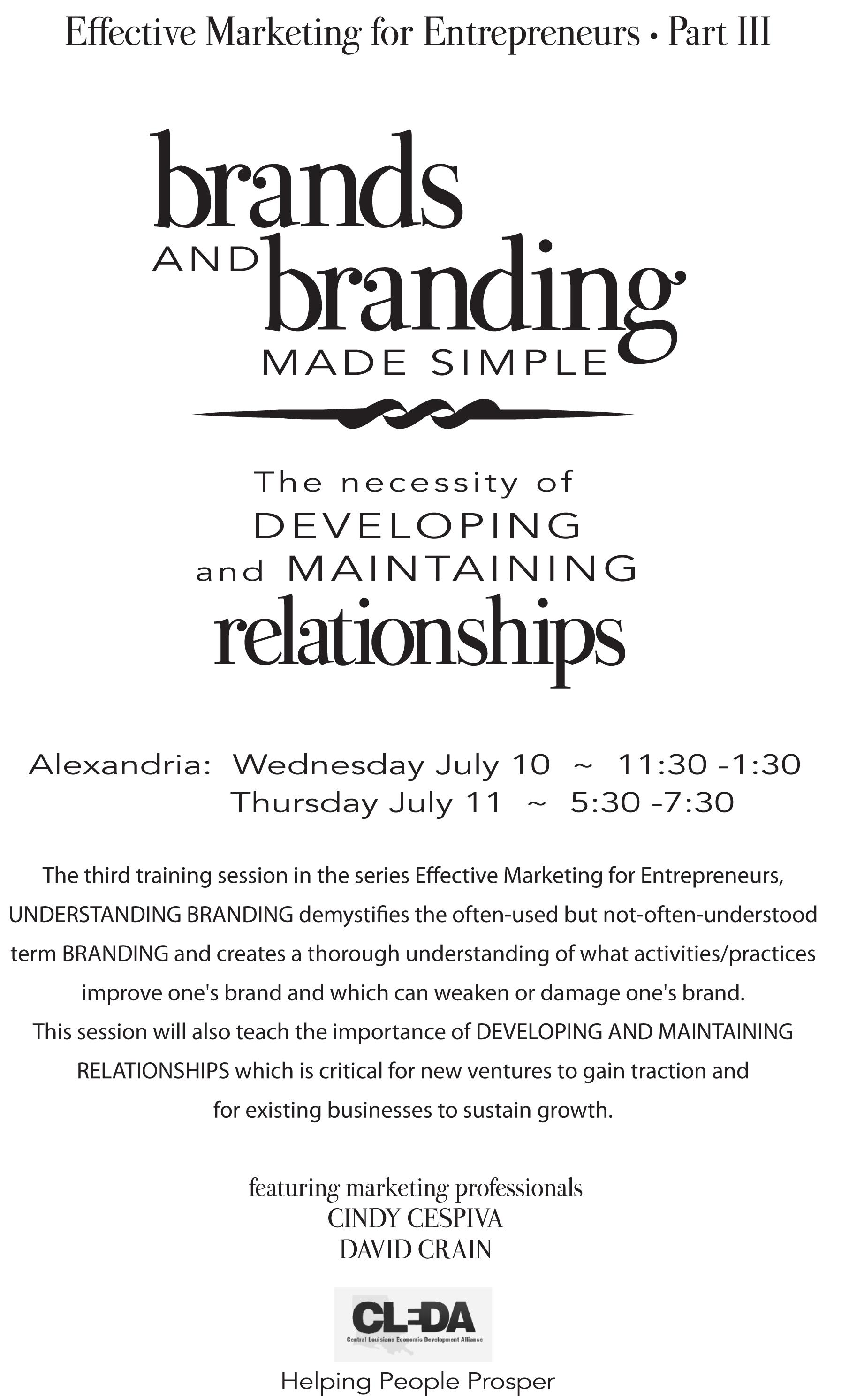 Branding-Training-Opportunity