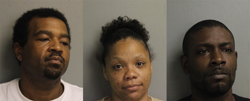Above: Derrick Jermaine Batiste (left); Latreice Moncele Turner (middle); Brock Lennon White (right)