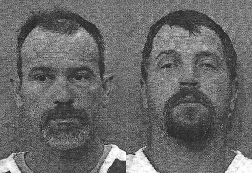 Adam Kertz (left) and Robert Burgess Junior (right) are accused of breaking into the wrong home to apprehend a suspect.
