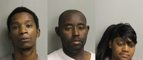 Above: Sean Derrell Smith (left); Cedrick Tyrone Hurts (middle); Tamicka Latraye Hurts (right)