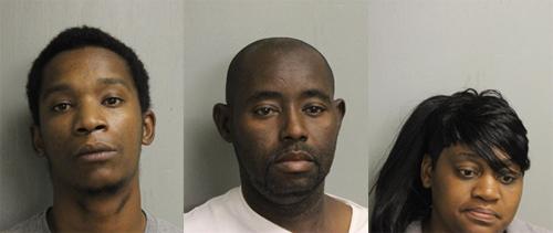 Above: Sean Derrell Smith (left); Cedrick Tyrone Hurts (middle); Tamicka Latraye Hurts (right)