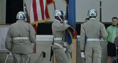 A 911 ceremony was held today at the VA Hospital in Pineville.