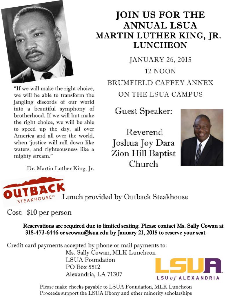 2015 off campus invitation to MLK