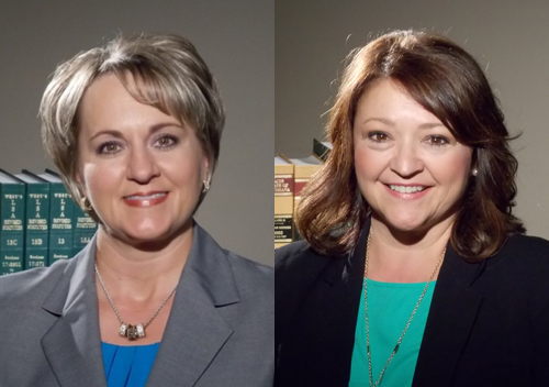 Carolyn Bosley (left) and Cheri Fontenot (right).