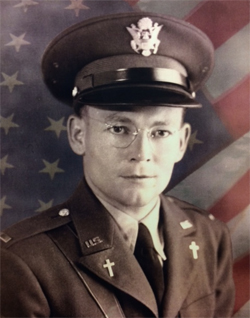 Lt. Joseph Verbis Lafleur, an Army chaplain who sacrificed his life in World War II.