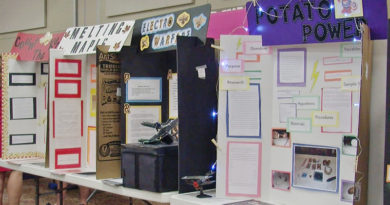 Prompt Succor Students Present Science Fair Projects