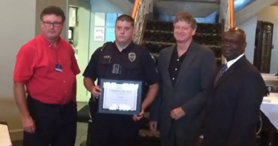"Alexandria Officer Earns Title of ""Lawman of the Year"""