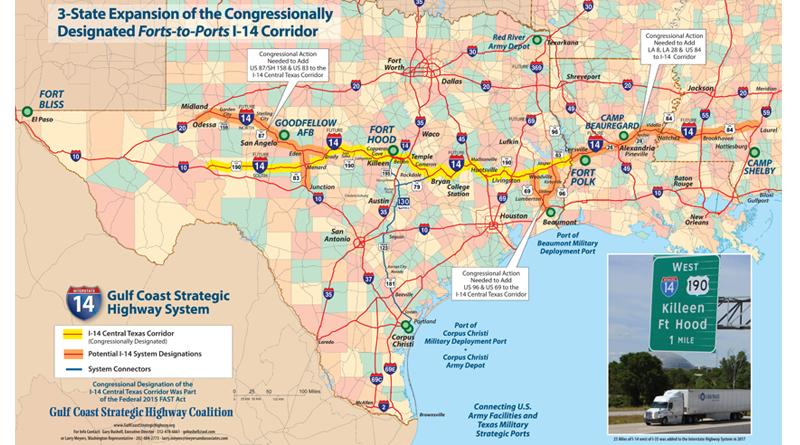 Map Of Texas Louisiana And Mississippi.Legislation Pending To Expand I 14 Through Cenla Klax Tv