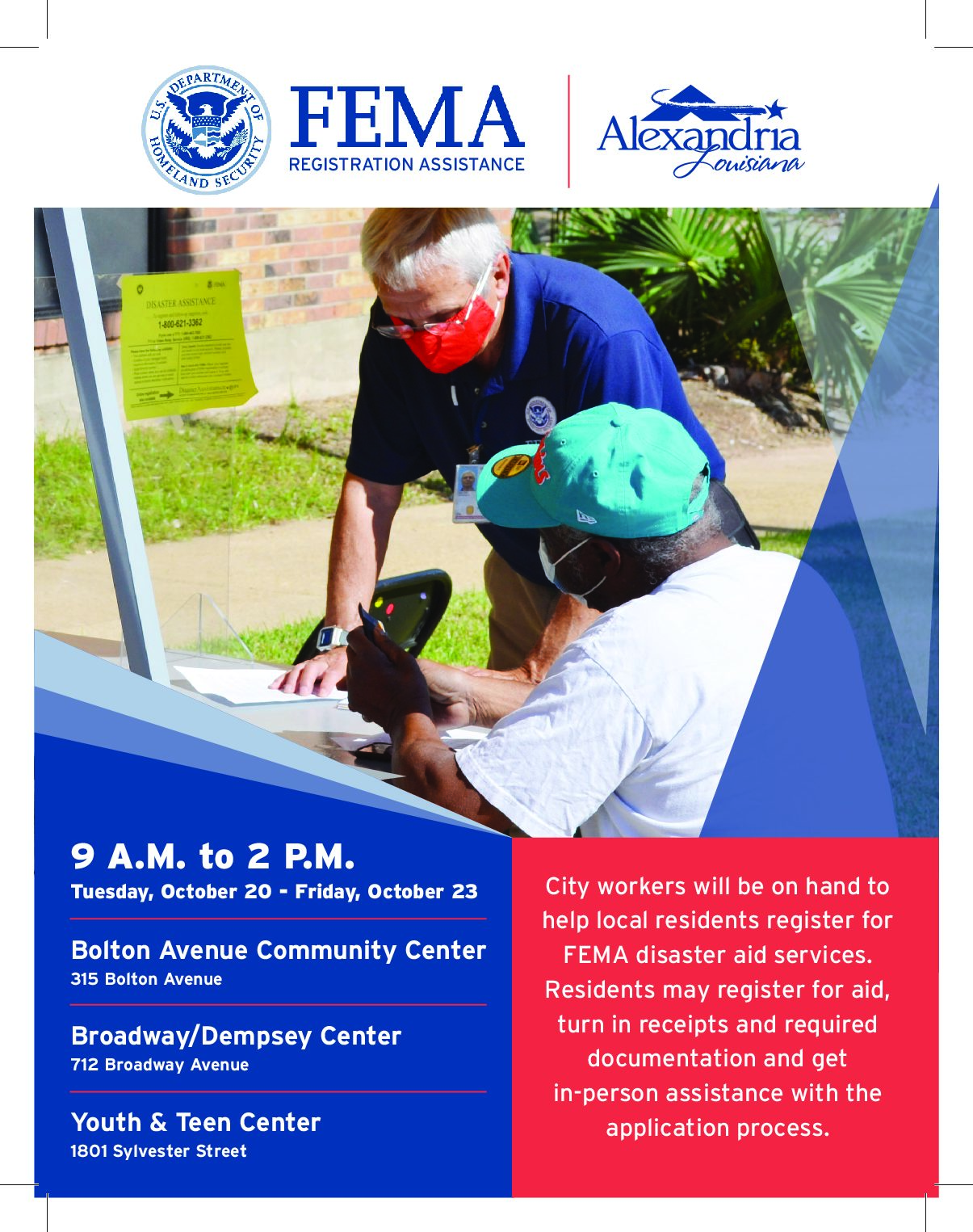 FEMA aid registration going on now